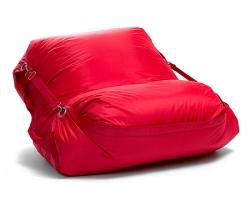 Omni Bag sedací pytel s popruhy Scarlet Rose 191 x 141 cm