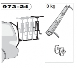 THULE 973-24 adaptér pro 4. kolo k nosiči 973 BackPac